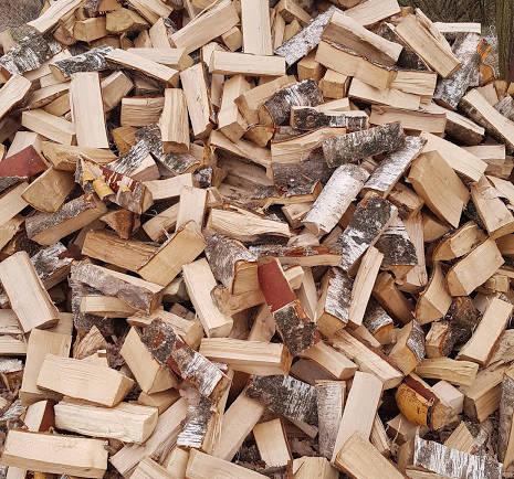 Palivové dřevo – Bříza naštípané